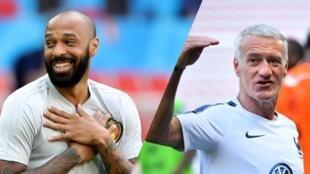 دیدیه دِشان مربی تیم ملی فرانسه و تیری هانری کمک مربی تیم بلژیک هر دو در سال ١٩٩٨ در تیم ملی فرانسه بازی میکردند