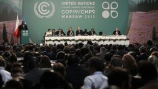 Sala plenária da COP 19, em Varsóvia.