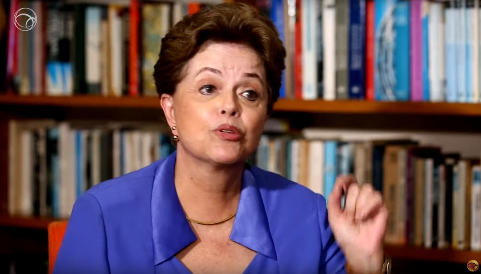 L'ex-présidente brésilienne Dilma Rousseff interviewée par UOL, le 31 juillet 2019.