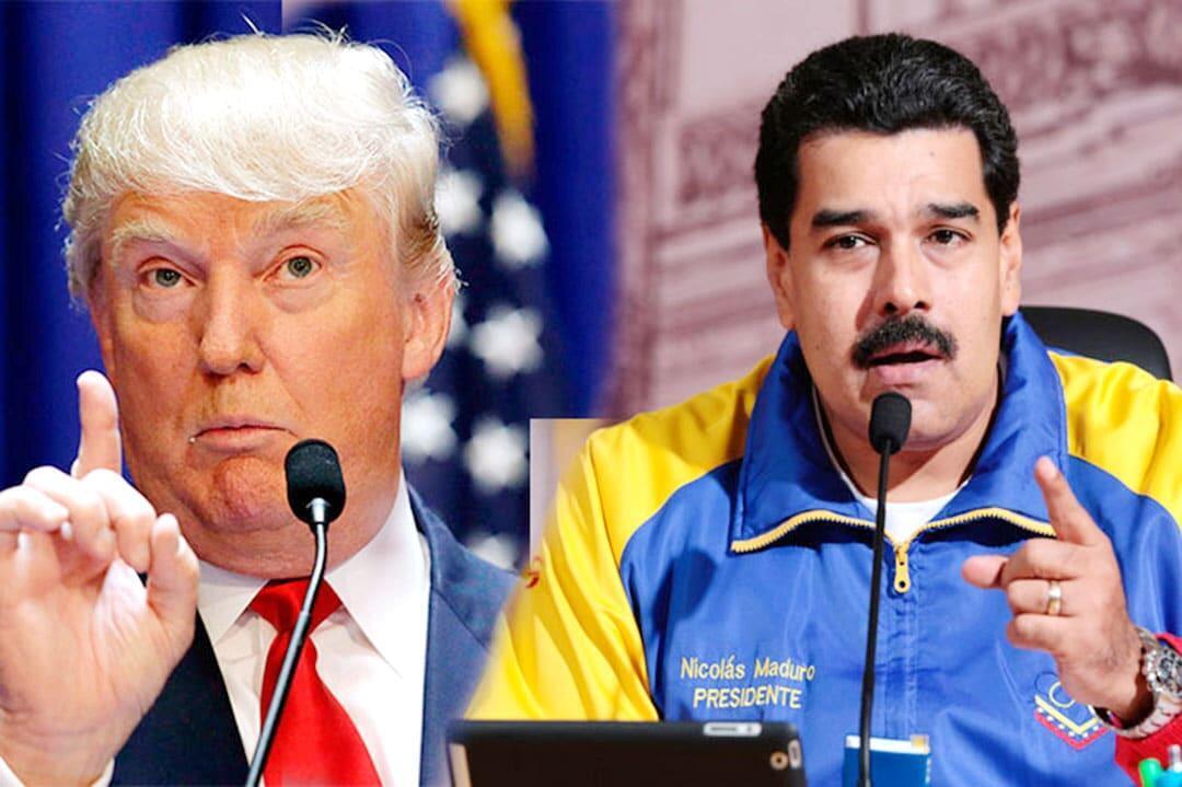 美國總統特朗普和委內瑞拉總統馬杜羅資料圖片