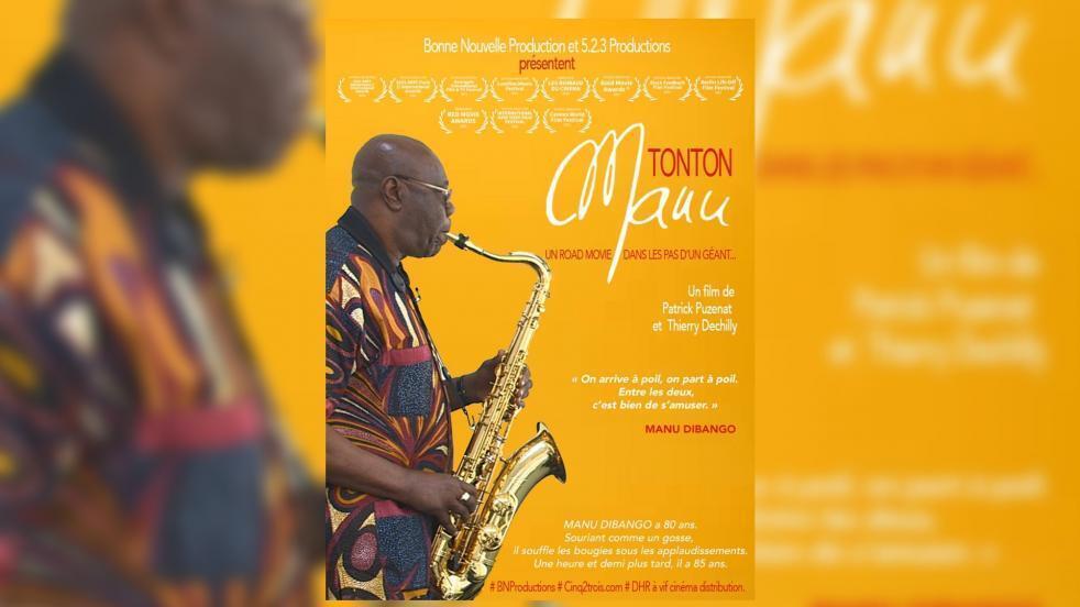 "musique - Manu Dibango - Cameroun - affiche documentaire ""Tonton Manu"""