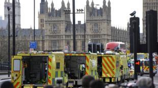 Westminster, à Londres, après l'attentat, le 22 mars 2017.
