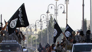 Wapiganaji wa kundi la Islamic State wakisem akuwa wataendelea na harakati yao..