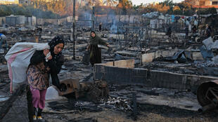 پناهندگان سوری در اردوگاه سوختهای در خاک لبنان. .