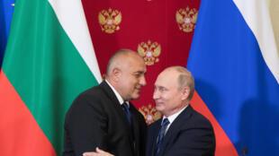 Le Premier ministre bulgare Boïko Borissov et Vladimir Poutine.