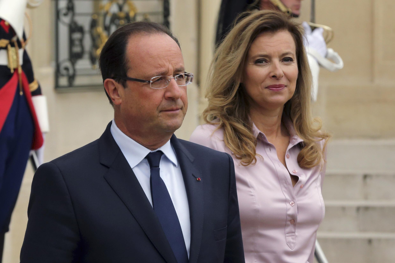 Le président français, François Hollande, accompagné de la première dame, Valérie Trierweiler, le 1er octobre 2013.