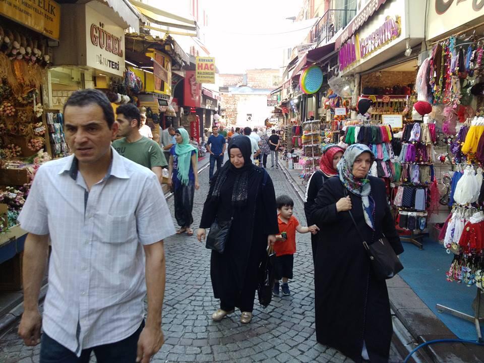 Shoppers in Eminonu