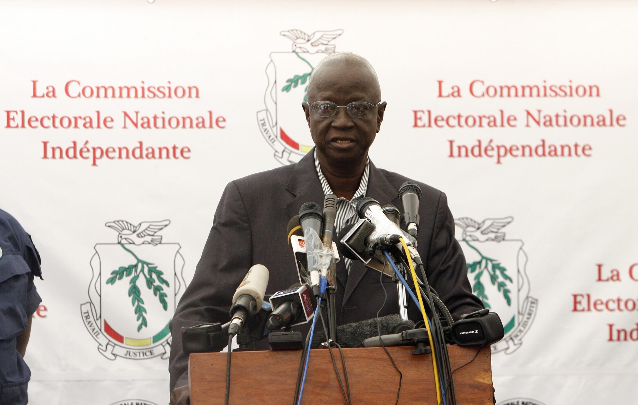 Electoral commission president Ben Sekou Sylla