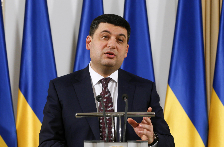 Спикер Верховной рады Украины Владимир Гройсман, 24 марта 2016.
