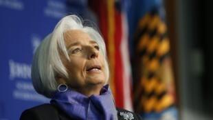 Tổng giám đốc Quỹ tiền tệ quốc tế  Christine Lagarde. Ảnh chụp tại  Washington. tháng 4/2014.