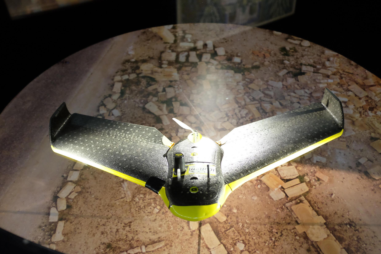 Drone usado por Iconem para ilustrar uma reconstrução virtual de Palmira e outros locais ameaçados na Síria e no Iraque.ue