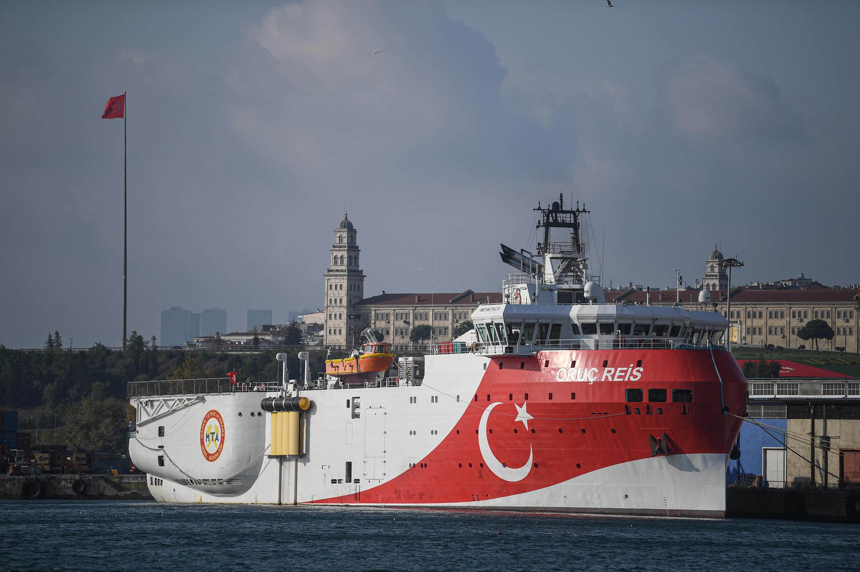 Un barco del servicio de prospecciones turcas, el 23 de agosto de 2019, en Estambul