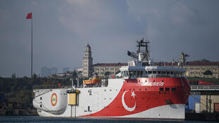 Storm brewing in the eastern Mediterranean. The Oruc Reis seismic research vessel.