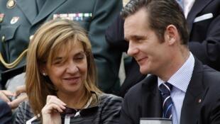 Cristina de Borbón con su marido, Iñaki Urdangarin.
