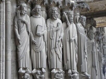 Bajo relieve del exterior de la Catedral de Chartres.