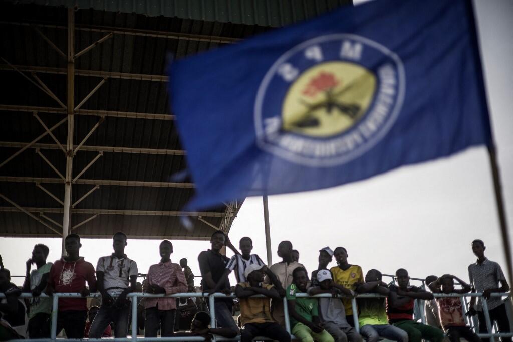 Des militants du Mouvement patriotique du salut (MPS) rassemblés lors d'un meeting le 8 avril 2021. (image d'illustration)