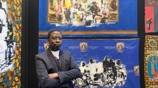 Artista angolano Ricardo Kapuka, em Paris