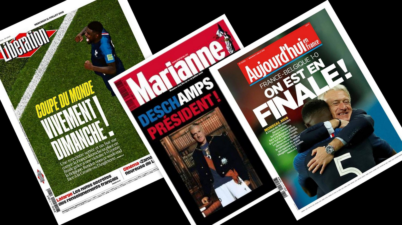 Os jornais franceses tratam da expectativa e do entusiasmo da França para a final da Copa do Mundo, contra a Croácia, no domingo (15).