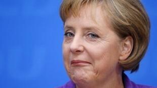 La chancelière Angela Merkel.