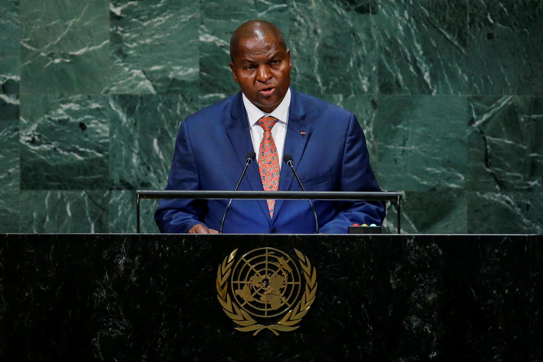 Le président centrafricain, Faustin-Archange Touadéra, à la tribune des Nations unies, le 26 septembre 2018. (Illustration)