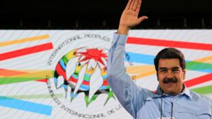 Tổng thống Venezuela Nicolas Maduro tham dự một cuộc mít tinh ở Caracas, ngày 26/02/2019