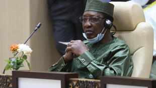 "Chad President Idriss Deby (pictured June 2020) said his country will ""have this Boko Haram phenomenon for a long time yet"""