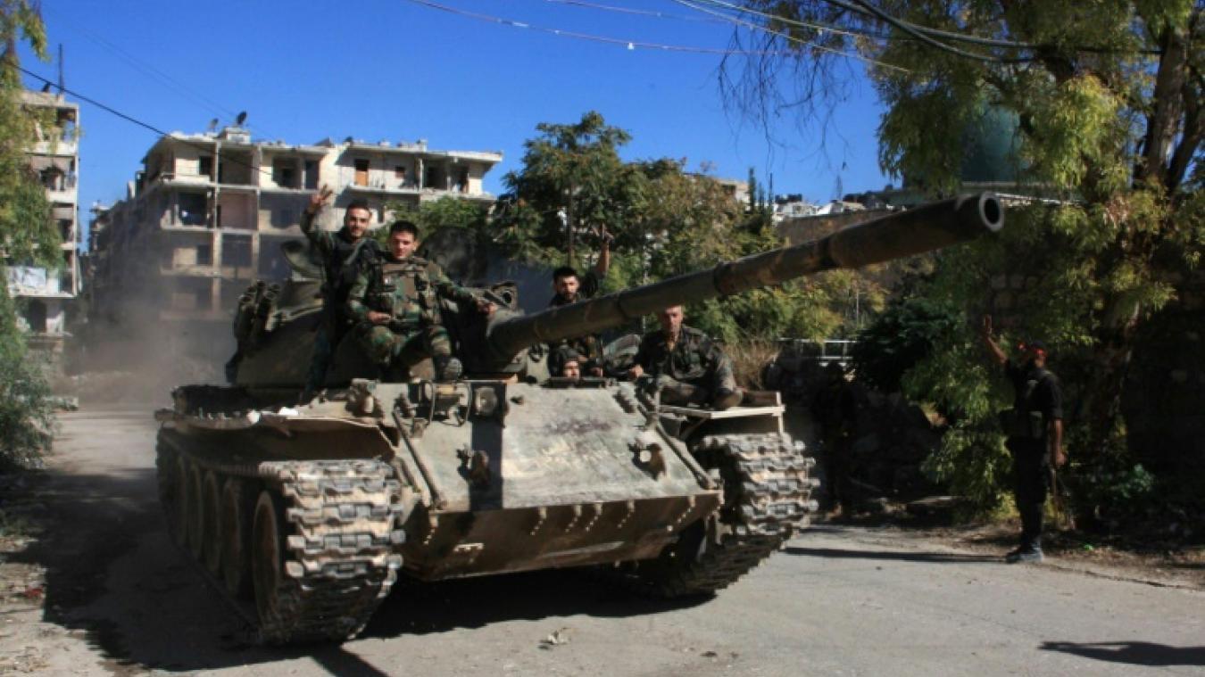 Forças do governo sírio em Alepo