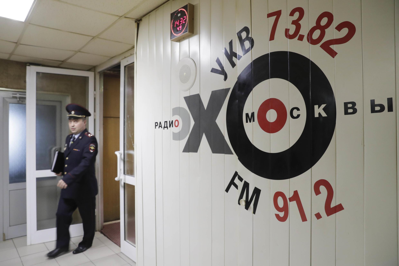 Estação de rádio em Moscou onde a jornalista russa foi esfaqueada.