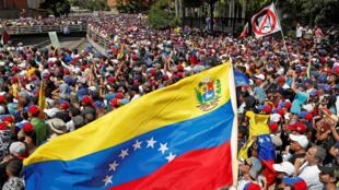 Манифестация оппозиции в Каракасе 23 января 2019.