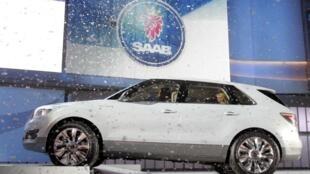Концепткар фирмы Saab на салоне в Детройте в январе 2008 г.