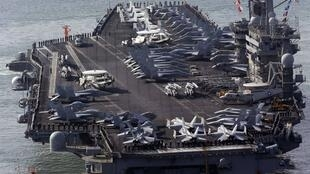網傳美國尼米茲號航母 資料照片