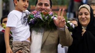 Chuyên gia nguyên tử Shahram Amiri, lúc trở về Iran tháng 7năm 2010.