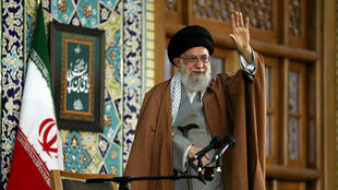 L'ayatollah Ali Khamenei, lors du discours du nouvel an.