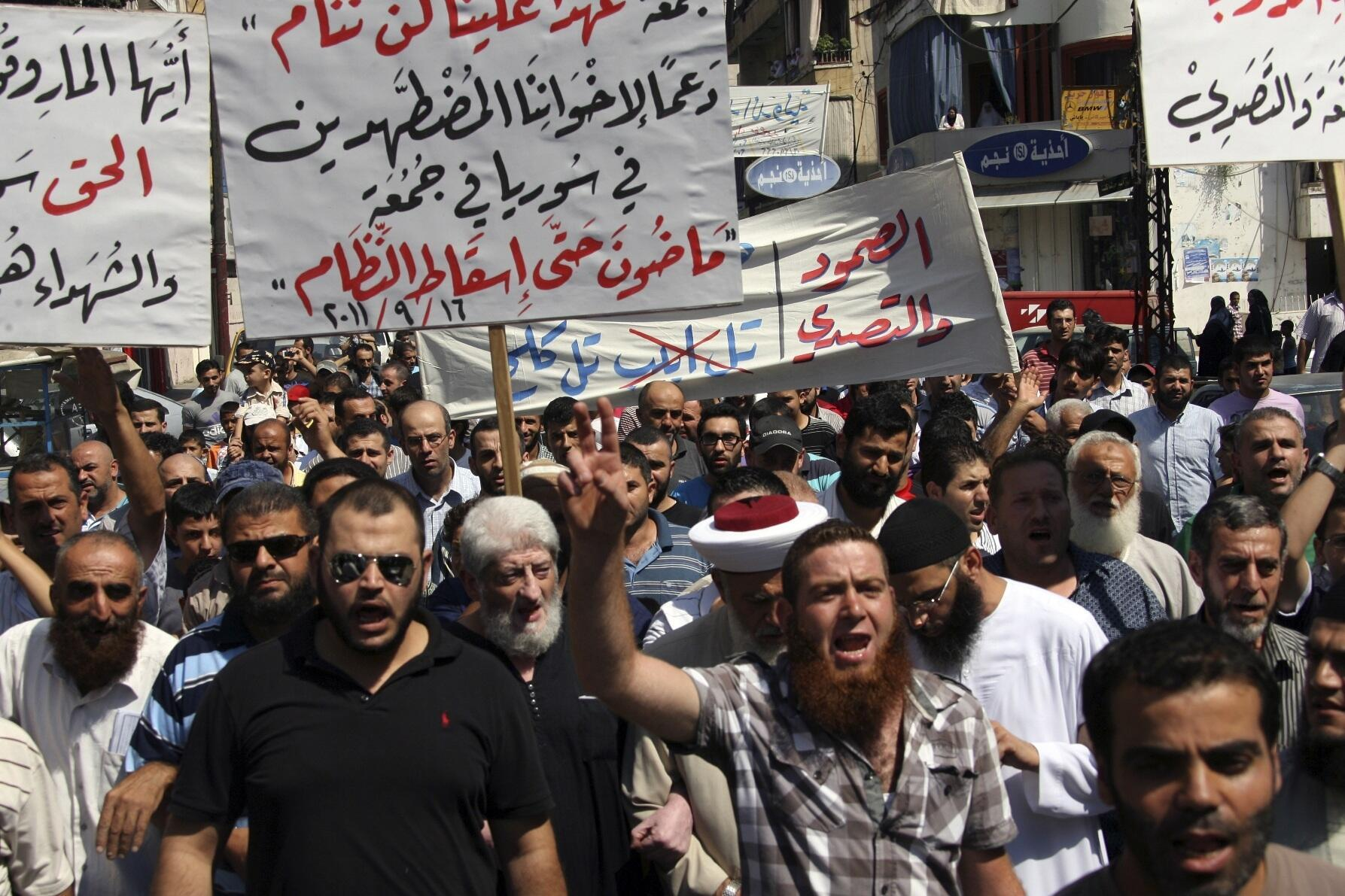 Biểu tình chống Bachar el-Assad tại Liban.
