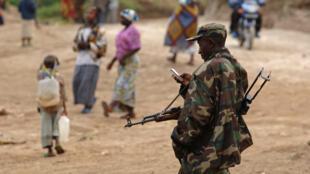 Askari wa Rwanda huko DRC,  Januari 2009. (Picha kumbukumbu)