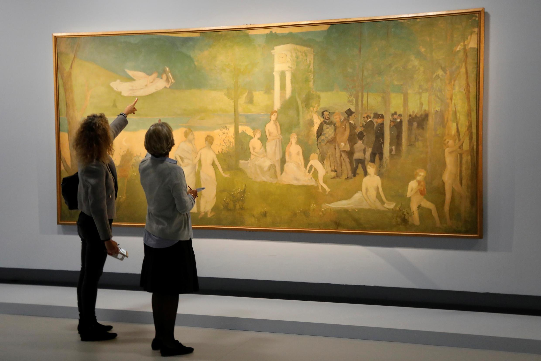 巴黎大皇宮展出的法國畫家亨利-圖盧茲-勞特里克的作品