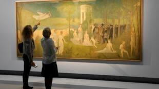 巴黎大皇宫展出的法国画家亨利-图卢兹-劳特里克的作品