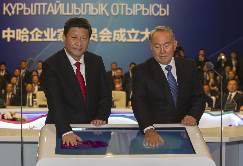 Си Цзиньпин и Нурсултан Назарбаев