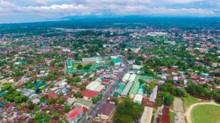 Une vue aérienne de la ville de Cotabato aux Philippines.