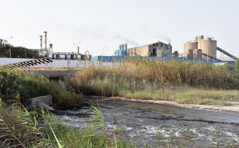 Vue de l'usine du GCT, Groupe chimique tunisien, de Gabès, à 400 km de Tunis.