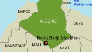 Bordj Badji Mokhtar, située au sud-ouest de l'Algérie est au milieu du désert.