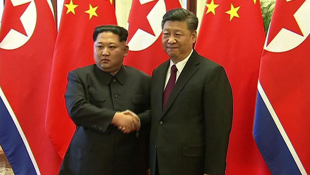 中國官方新華社證實朝鮮領導人金正恩訪華與中國國家主席習近平會晤