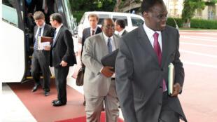 Michel Kafando au premier plan, en 2008, alors qu'il était ambassadeur du Burkina Faso aux Nations unies