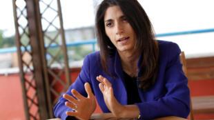 Virginia Raggi,a candidata do Movimento 5 Estrelas para a autarquia de Roma.
