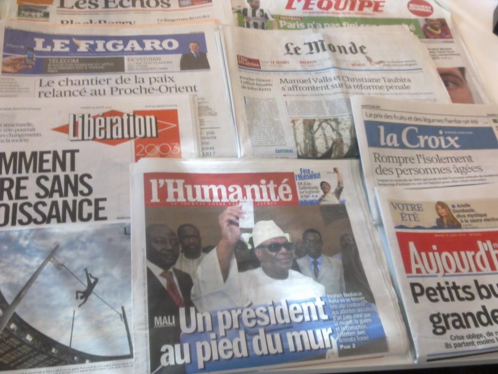 Diários franceses 13.08.2013