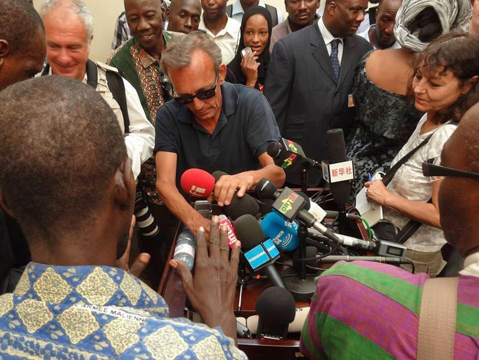 Claude Verlon et Ghislaine Dupont à Kidal au Mali, en juillet dernier.
