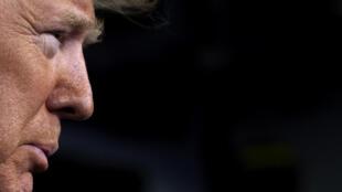 Donald Trump, durante una comparecencia informativa sobre el coronavirus el 21 de marzo de 2020 en la Casa Blanca, en Washington
