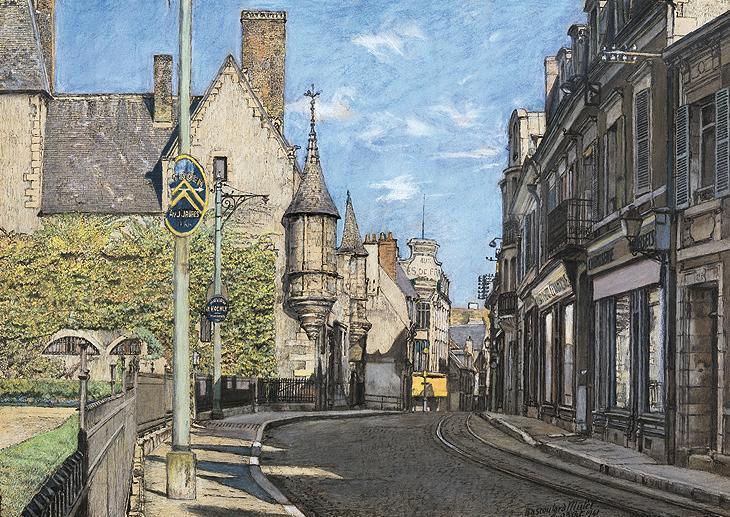 "Marcel Bascoulard, ""Rue des Arènes"", 1941."