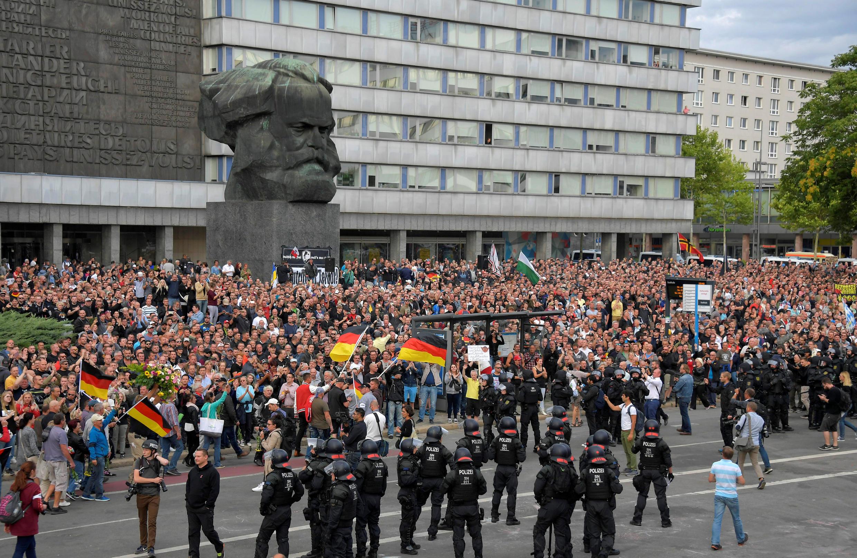 Phe cực hữu biểu tình tại Chemnitz, Đức, ngày 27/08/2018.
