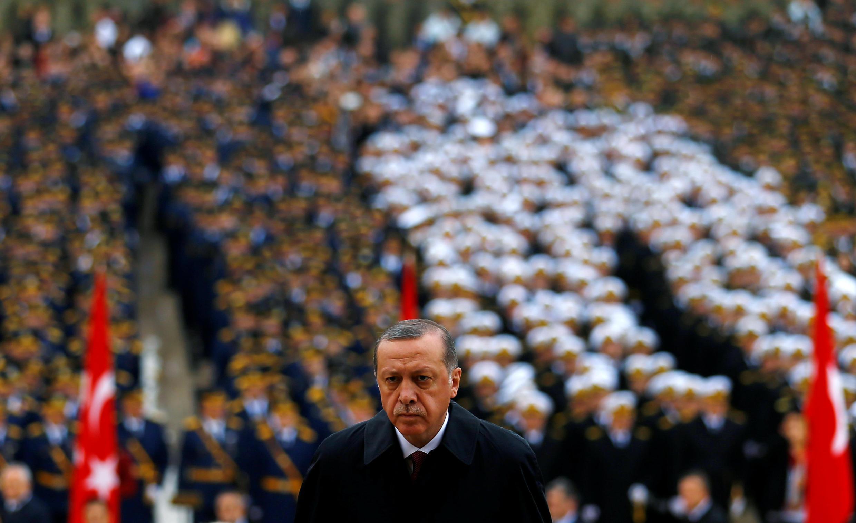 Президент Турции Реджеп Тайип Эрдоган на праздновании Дня Республики, 29 октября 2016 г.